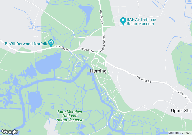 Map for Horning, Norwich, Norfolk