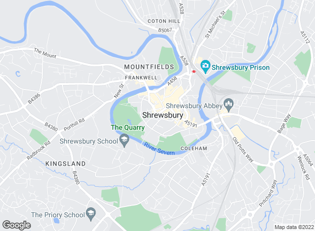 Map for Strutt & Parker - Lettings , Shrewsbury