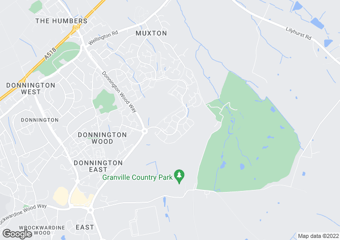 Map for Dorchester Drive, Muxton, Telford