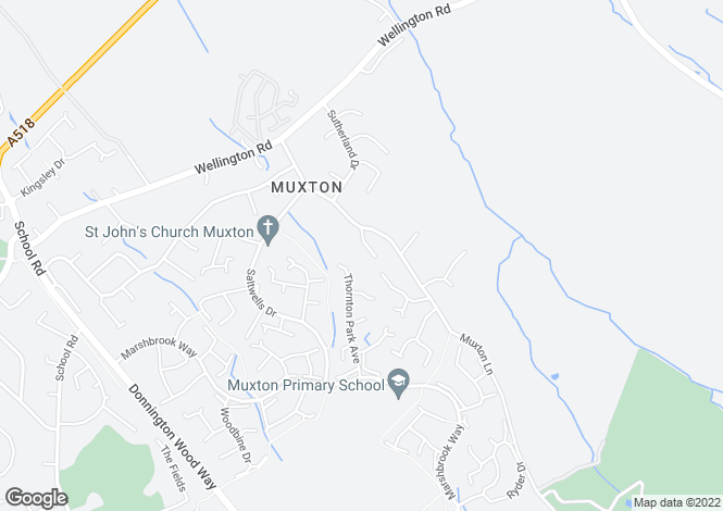 Map for Laneside, Muxton Lane,