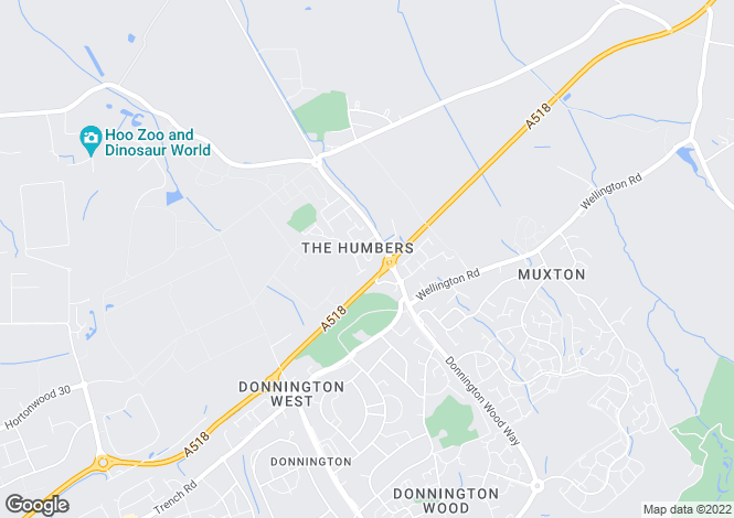 Map for Highlander Drive, Donnington, Telford