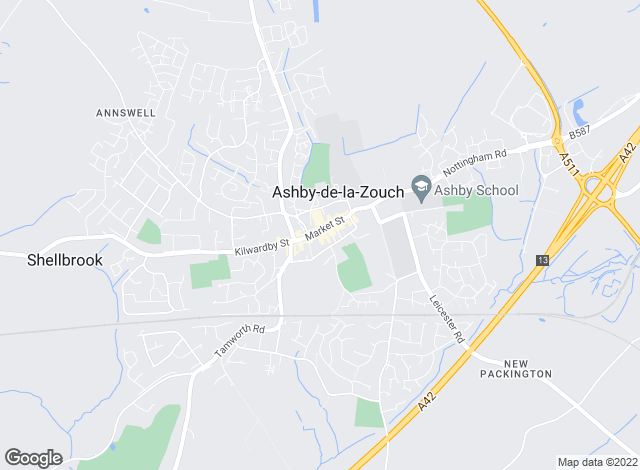 Map for Newton Fallowell, Ashby De La Zouch, Lettings