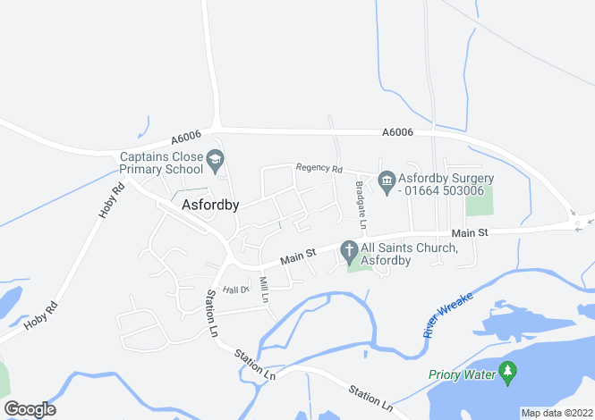 Map for Charnwood Avenue, Asfordby, Melton Mowbray