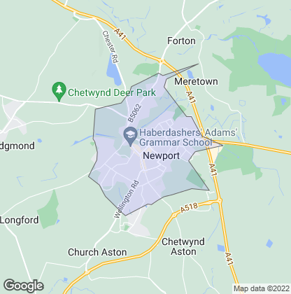 Map of property in Newport