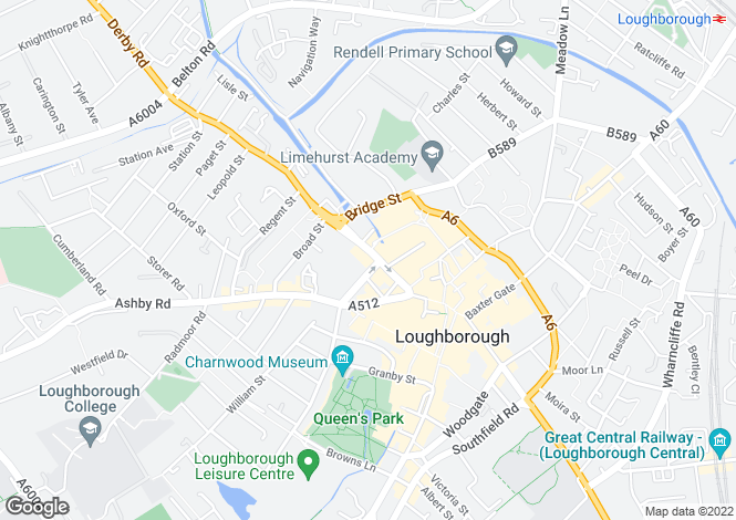 Map for Loughborough