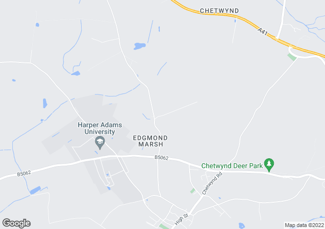 Map for Waterloo Road, Edgmond, Newport, Shropshire