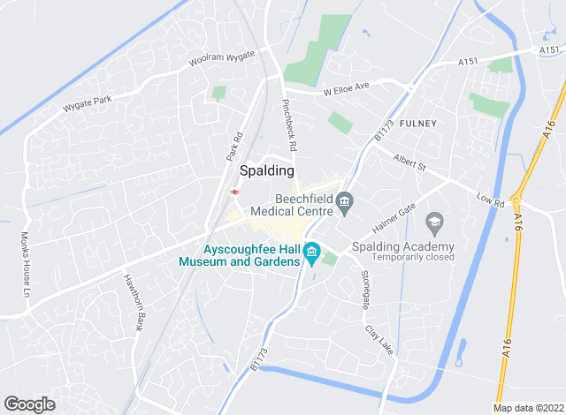 Map for A P Sales, Spalding