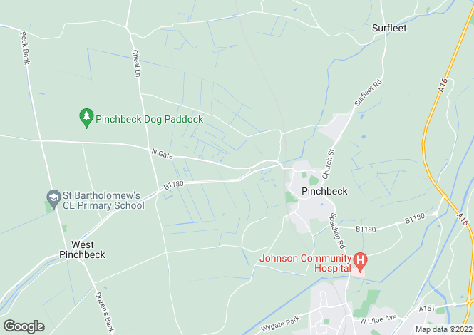 Map for Northgate, Pinchbeck, Spalding