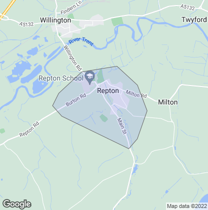 Map of property in Repton