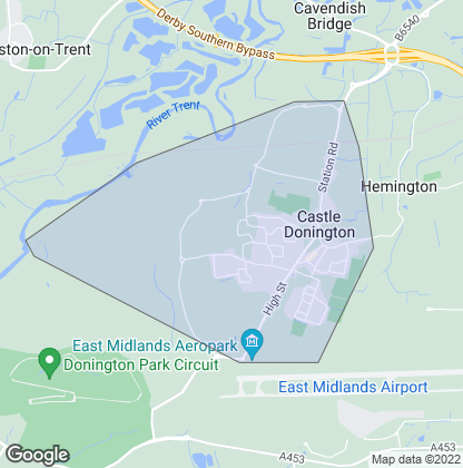 Map of property in Castle Donington