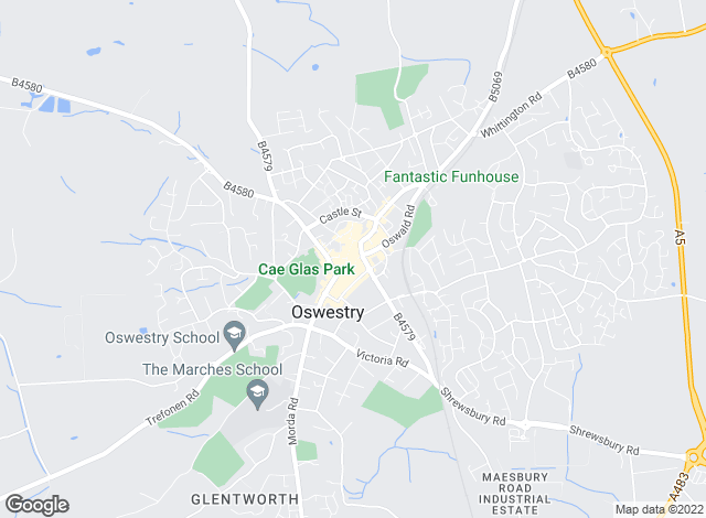 Map for Richmond Harvey Properties, Oswestry