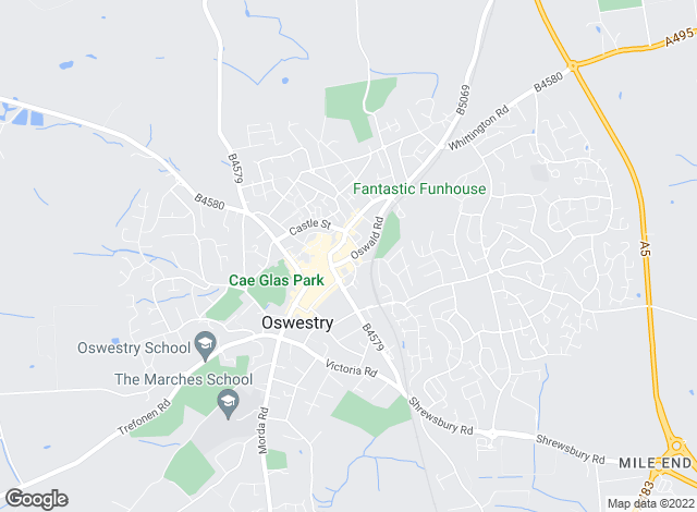 Map for Halls Estate Agents, Oswestry