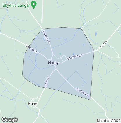 Map of property in Harby