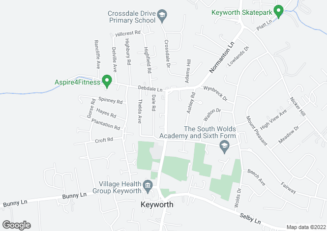 Map for Nottingham Road, Keyworth, Nottingham, NG12 5GS