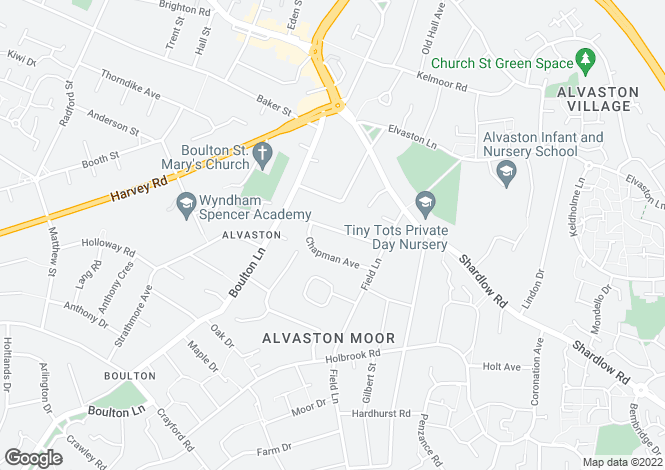 Map for COURTLAND DRIVE, ALVASTON