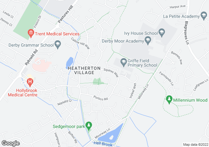 Map for Squires Way, Heatherton Village, Littleover, Derbyshire, DE23 3XB