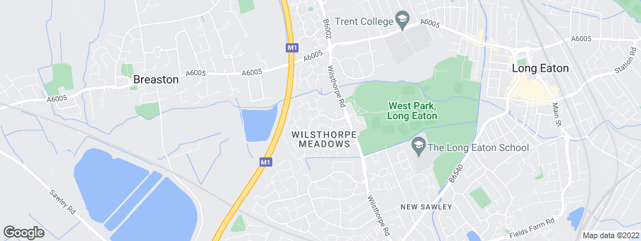 Map for Wilsthorpe Meadows development by W. Westerman Ltd.