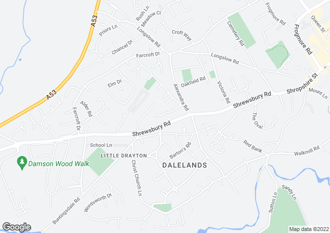 Map for Simons Road,
