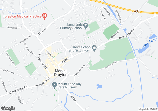 Map for 44, Stafford Street, Market Drayton, Shropshire