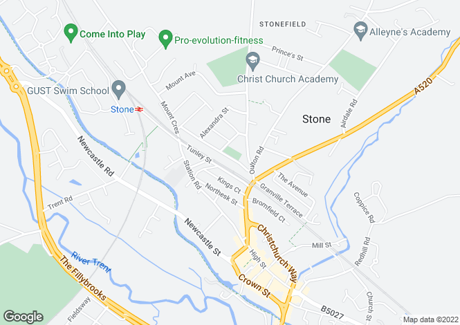 Map for Field Terrace, Stone, Staffordshire