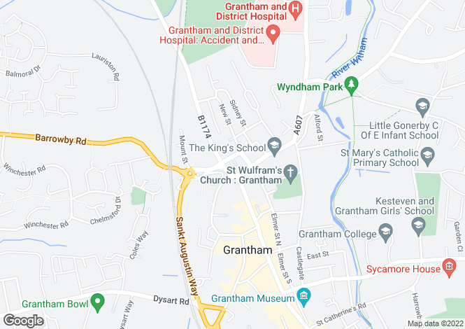 Map for Premier Court, Broad Street, Grantham, NG31 8FD