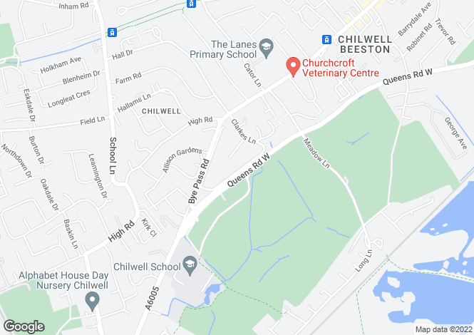 Map for Clarkes Lane, Chilwell, Nottingham, Nottinghamshire