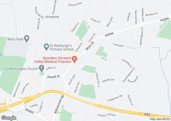 Map for Courtyard Place, Spondon