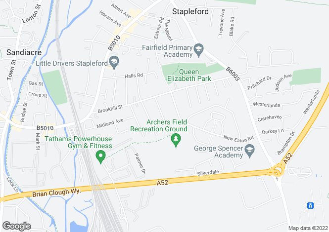 Map for Ash Grove, Stapleford