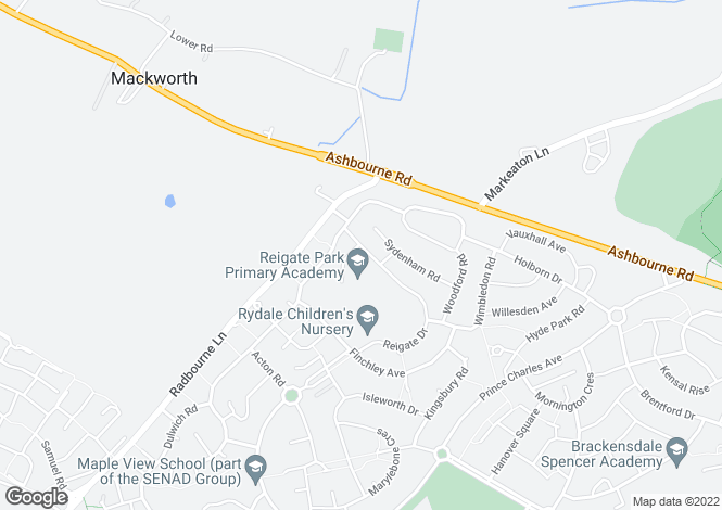 Map for Reigate Drive, Derby