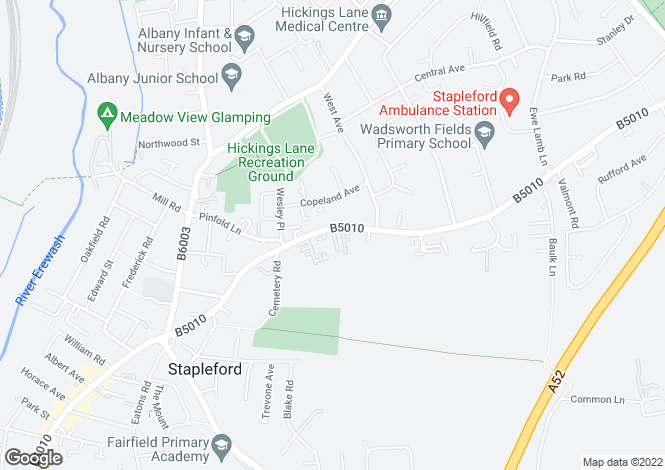 Map for Nottingham Road, Stapleford