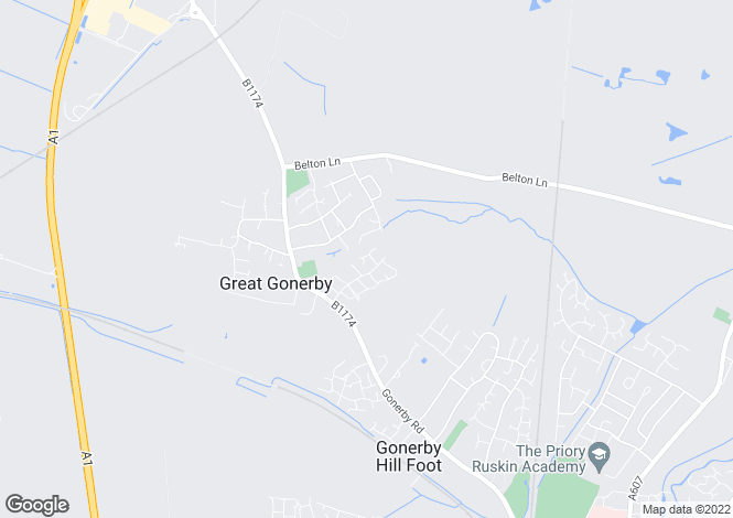 Map for Holden Way, Great Gonerby, Grantham
