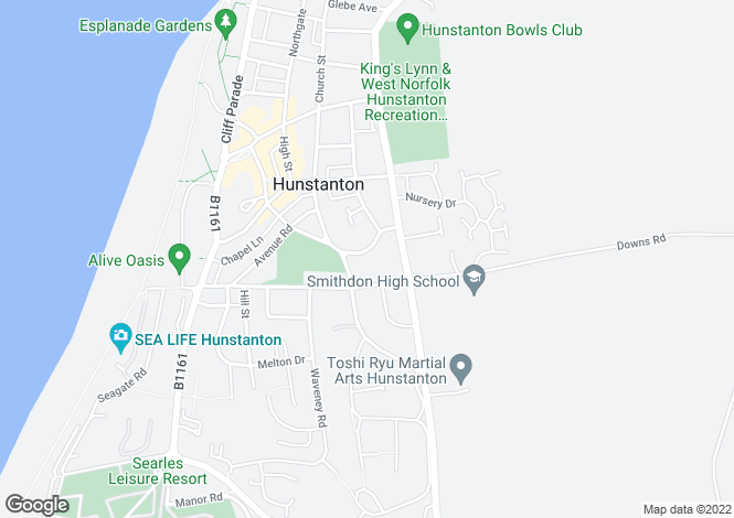 Map for Hunstanton