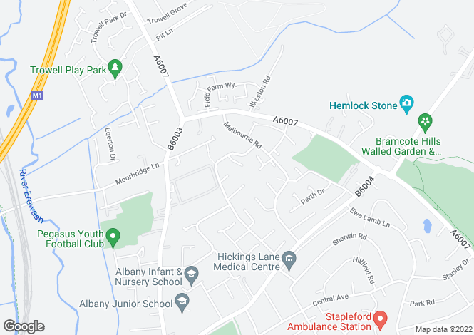 Map for Winterborne Drive<br>Stapleford<br>Nottingham