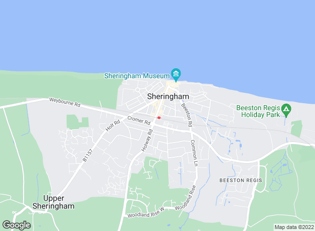 Map for Watsons, Sheringham