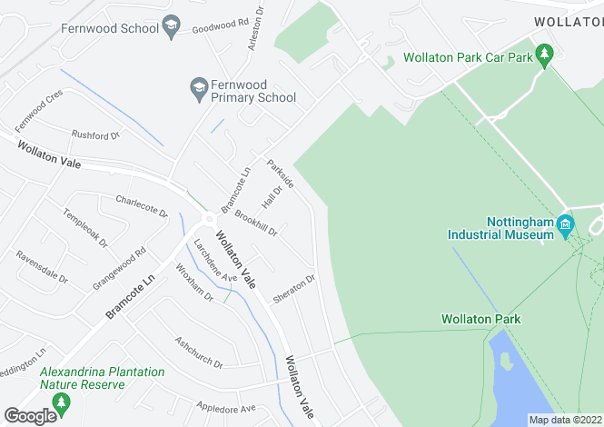 Map for Parkside, Wollaton, Nottingham