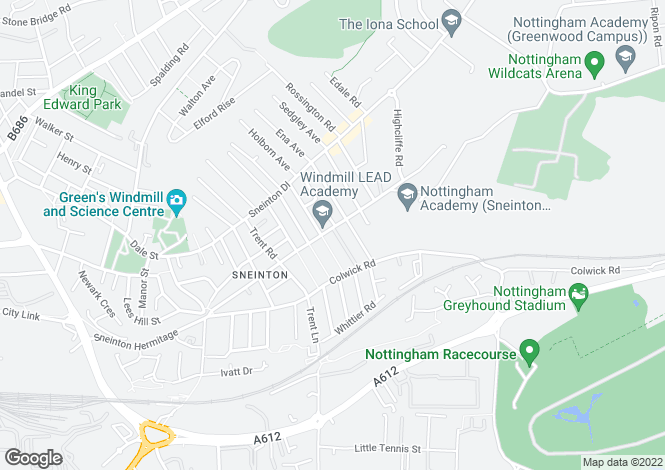 Map for Sneinton Boulevard, Sneinton, Nottingham