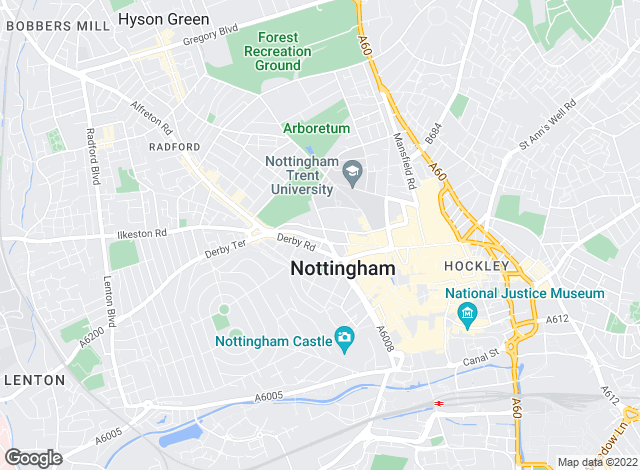 Map for Marriotts, Nottingham - Lettings