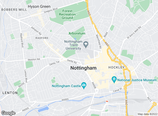 Map for Thomas James Estate and Letting Agents, Nottingham - Lettings