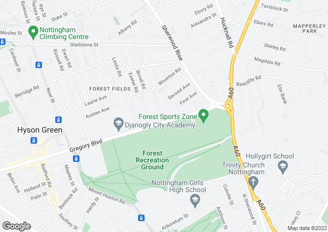 Map for The Ridge, 139 Foxhall Road,  Forest Fields