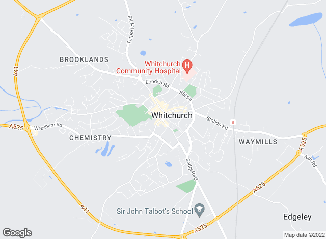 Map for Wright Manley, Whitchurch