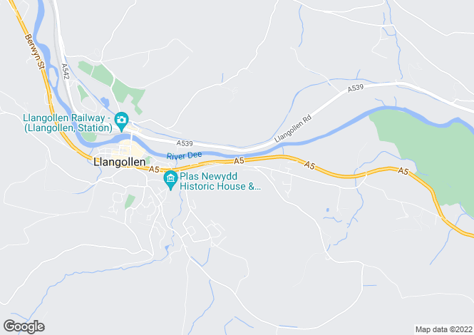 Map for Birch Hill, Llangollen