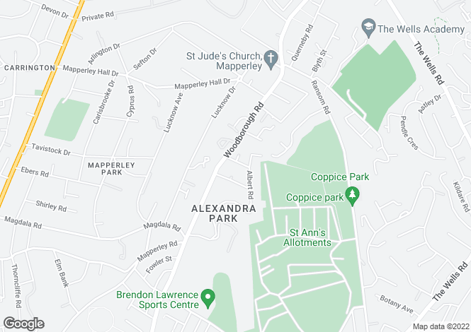 Map for Dagmar Grove, Mapperley, Nottingham, NG3 4JE