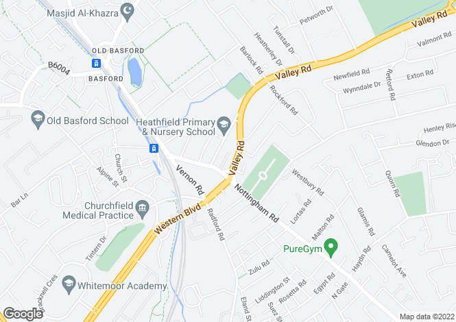 Map for Highland Court, Basford, Nottingham NG5