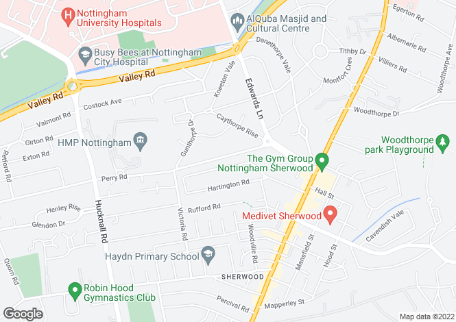 Map for Burlington Road,