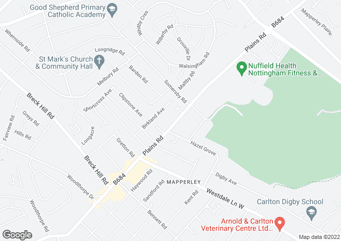 Map for Plains Road,