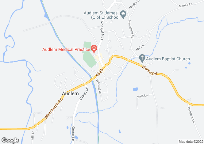 Map for Shropshire Street, Audlem Crewe, Cheshire