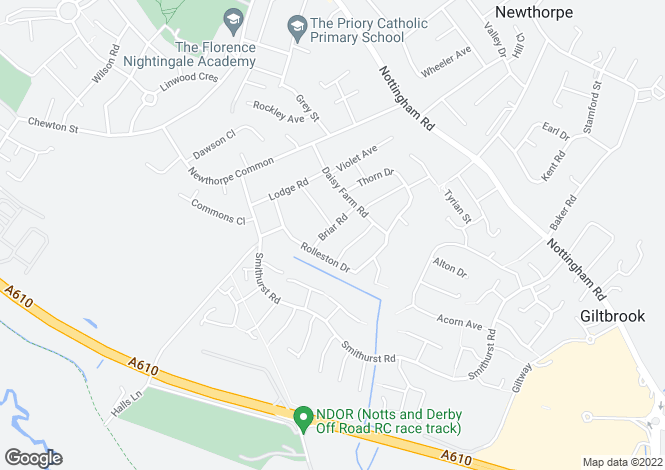 Map for Briar Road,