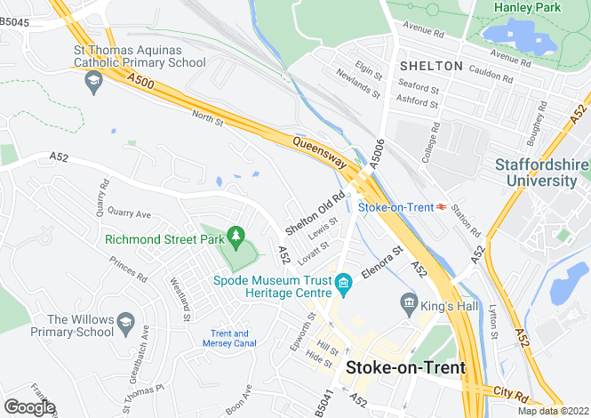 Map for North Street, Stoke-On-Trent, Staffordshire