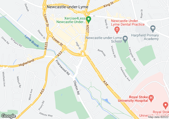 Map for Newcastle-Under-Lyme