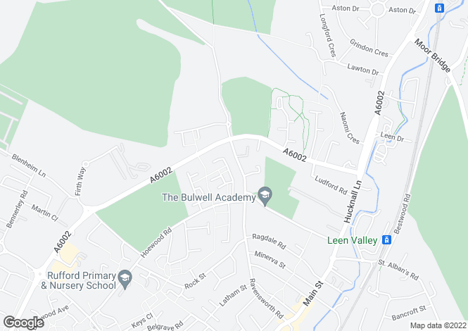 Map for Squires Avenue, Bulwell, Nottingham